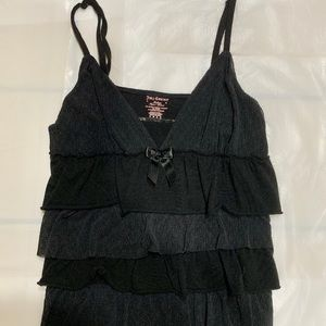 JUICY COUTURE BLACK LAYERED TANK